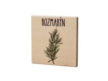 Dřevěný podtácek - Rozmarýn