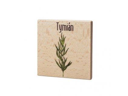 Dřevěný podtácek - Tymián