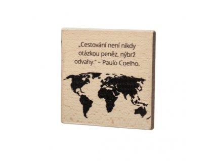 Dřevěný podtácek - Cestování