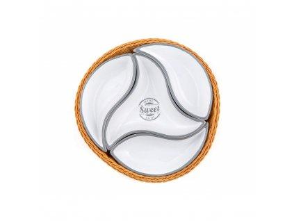 Misky v košíku Home Sweet Home - 4 dílná sada