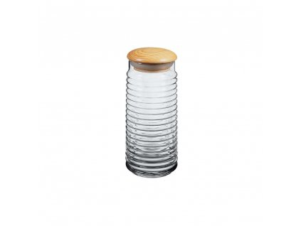 Skleněná dóza s dřevěným víčkem - 1,5 l