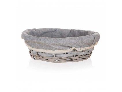 Košík HOME kulatý šedý - 25 x 7 cm
