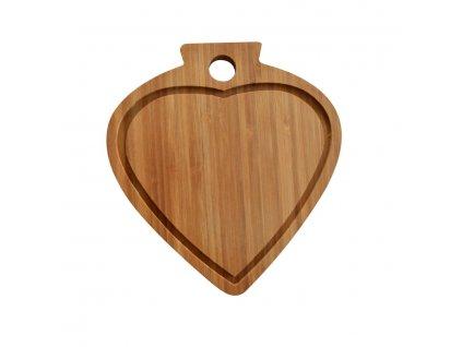 Prkénko na krájení srdce bambusové 23 x 21 x 1,6 cm |www. Doleo.cz