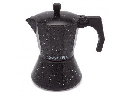 Moka konvice na espresso BLACK 300ml - 6 šálků | www.doleo.cz