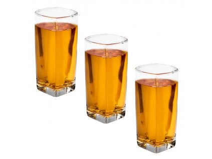 3 sklenice čtvercova Long Drink | www.doleo.cz
