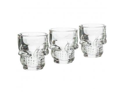Sada 3 sklenic ve tvaru lebky 45 ml | www.doleo.cz