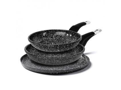 Sada 3 keramických pánví Kingstone 20, 24, 26 cm (víceúčelová) | www.Doleo.cz