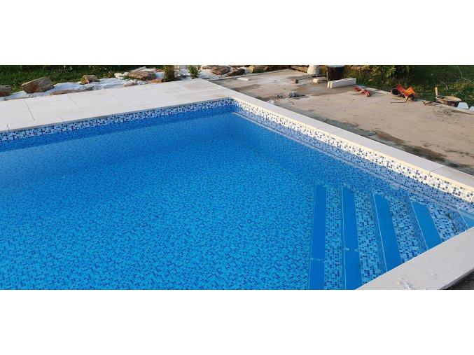 Limestone bazénový lem 1m