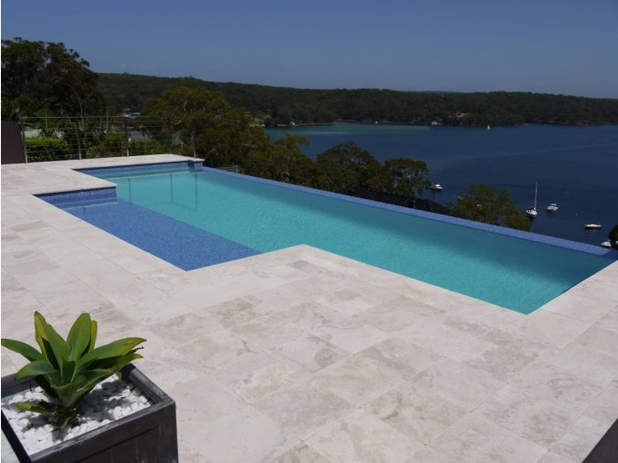 Travertine Pool Pavers and coping tiles