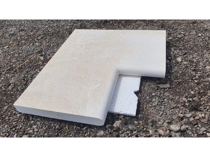 Limestone Roh bazénu D90