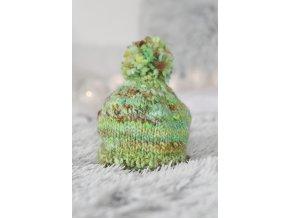 Čepice - merino / zelená