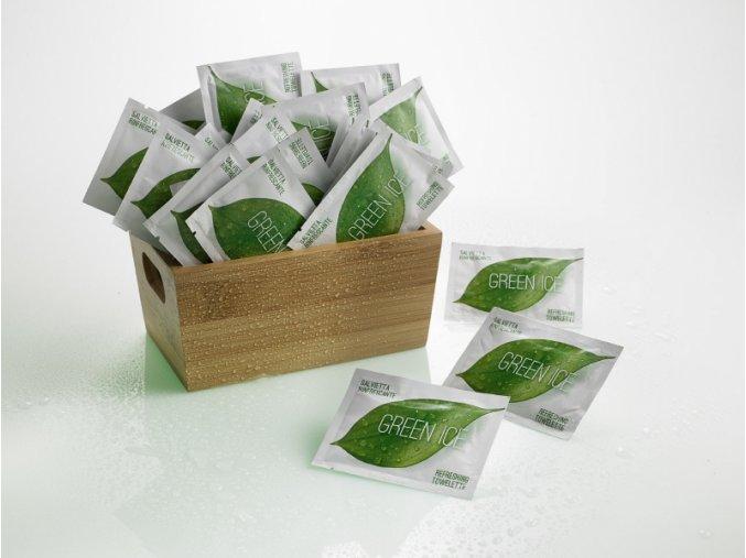 Osvěžující ubrousky - zelený čaj