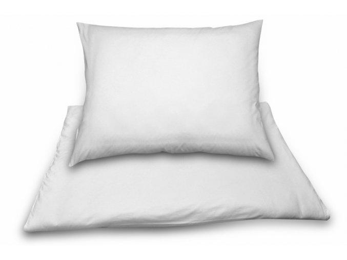 Povlak na polštář 70x90 cm, 160 tc, bílá