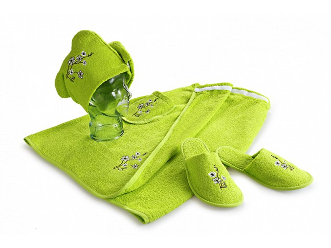 Set do sauny pro ženy - zelená