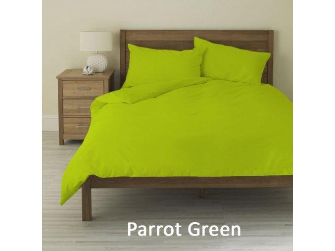Set povlak na polštář a peřinu 145tc, hráškově zelená
