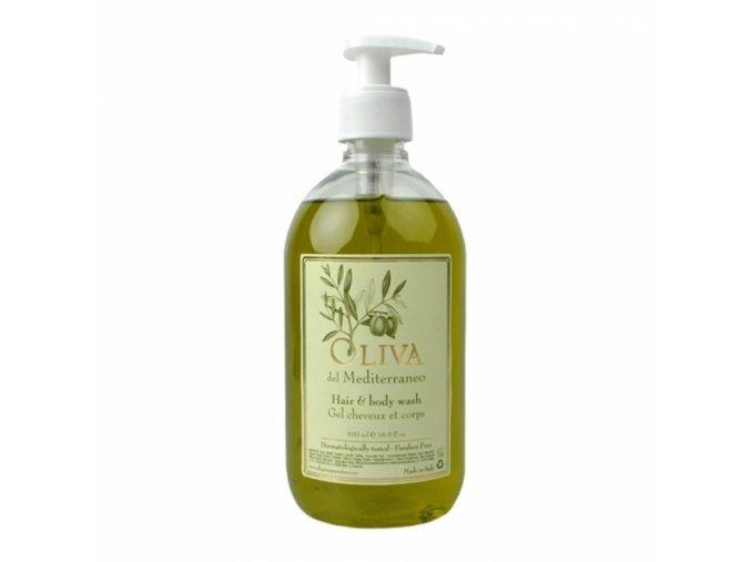 Vlasový a tělový šampon 500 ml s pumpičkou - Oliva