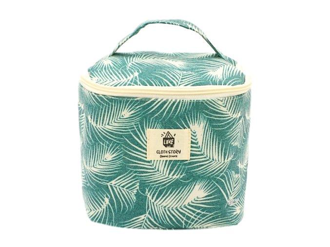 Kosmetická taška textilní, listy