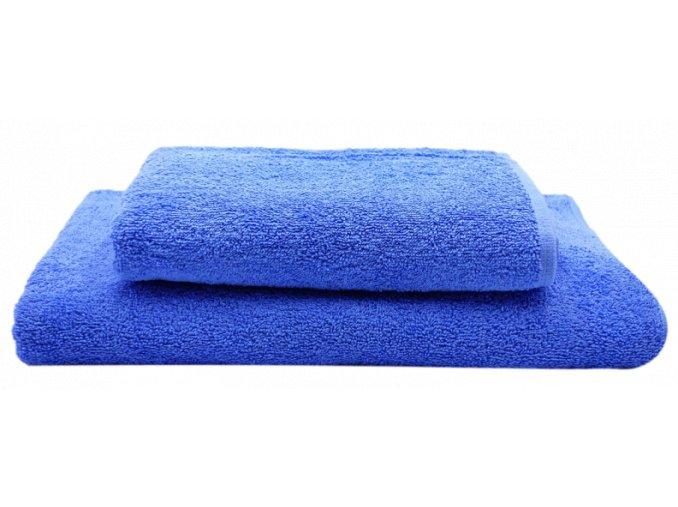 Dárkový set ručník a osuška 1+1, modrá