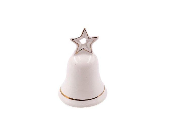 keramicky zvonek s hviezdickou