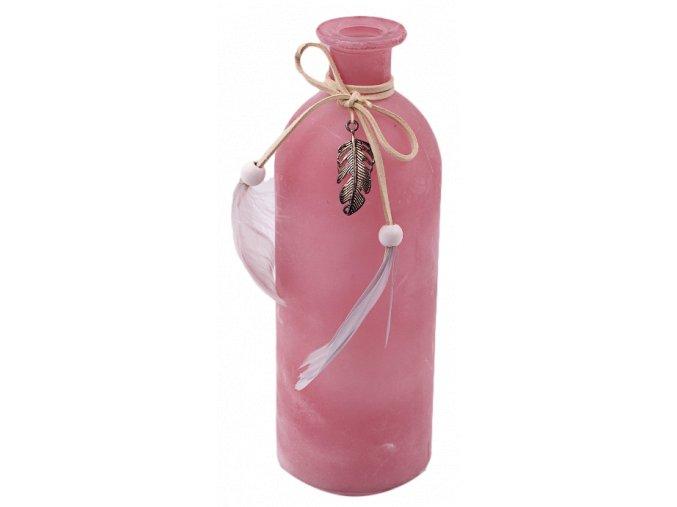 sklenena pink frost lahev