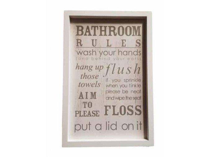 dekoracni vtipna tabulka do koupelny