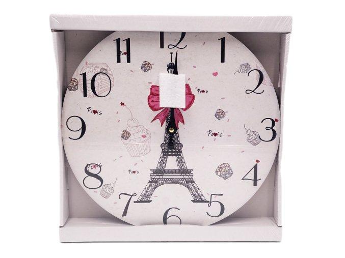 hodiny drevene s motivem parize