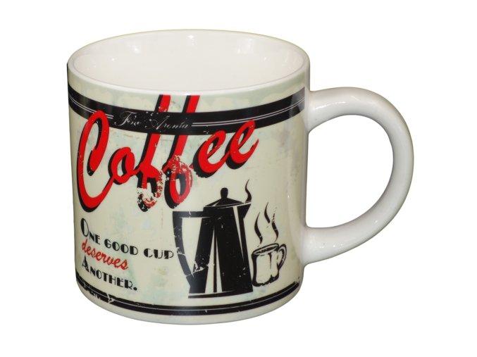 keramicky hrnek Coffe cerveno cerny 300 ml