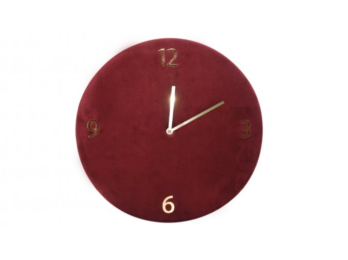 nastenne hodiny semisove bordo průměr 34 cm