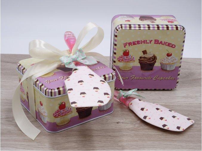 darkovy set stirka a nadobka v motivu cupcakes