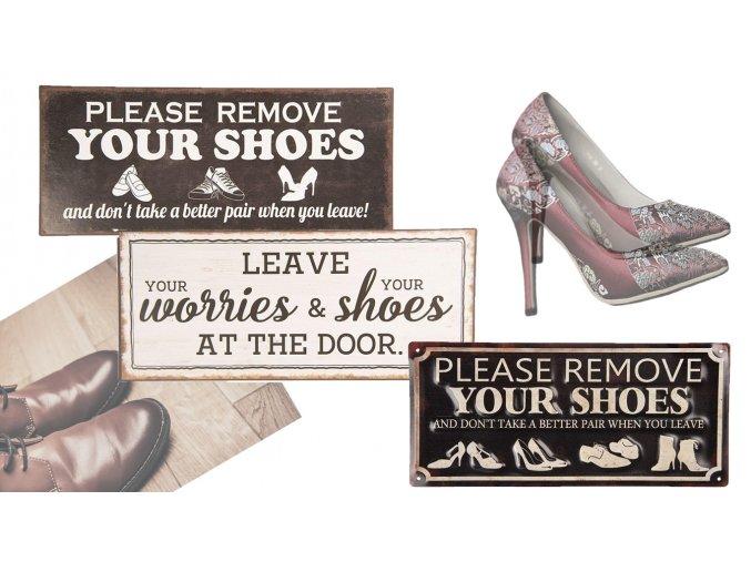 plechove cedule Shoes