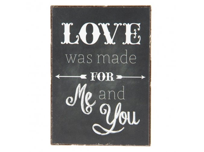 magnetka 5x10 cm love was made for you and me