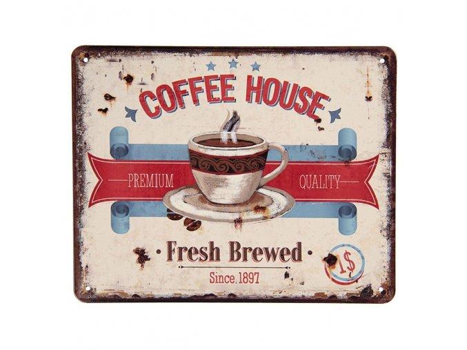 plechova retro cedule Coffee House