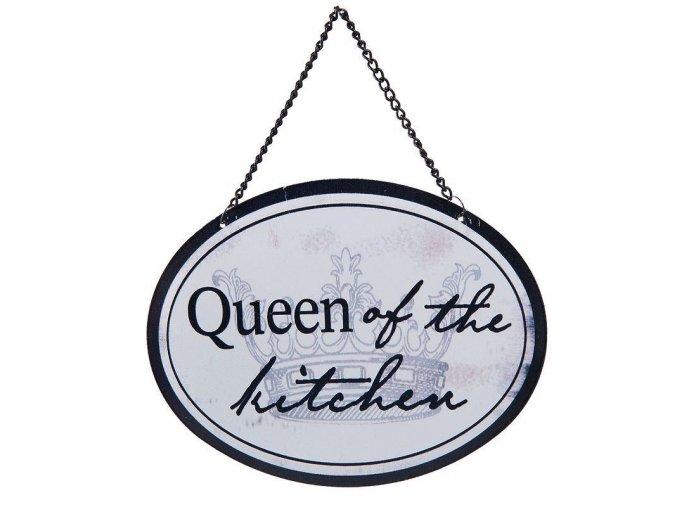 plechova cedulka Queen of the kitchen