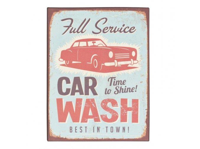 plechova cedule Car Wash