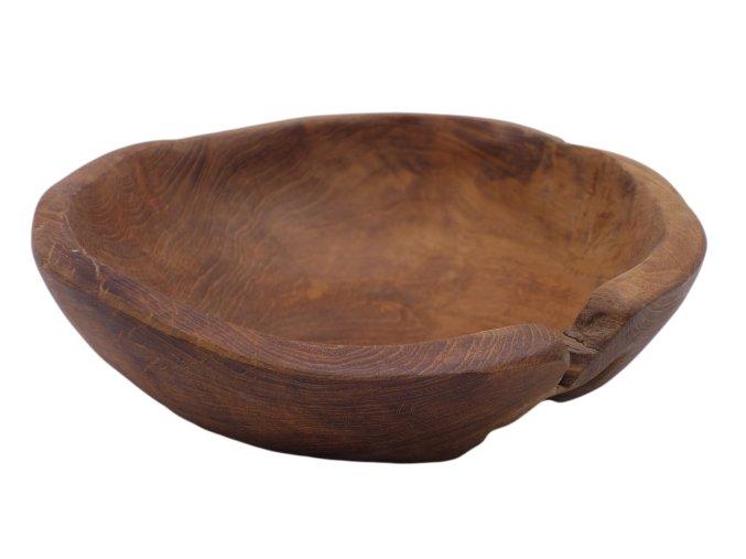 Miska dřevěná malá, teakové dřevo 20 cm