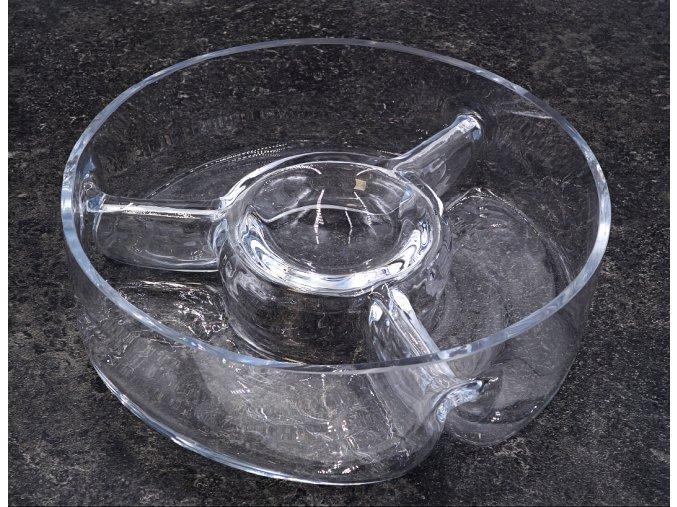 skleněná miska trojitá kulatá