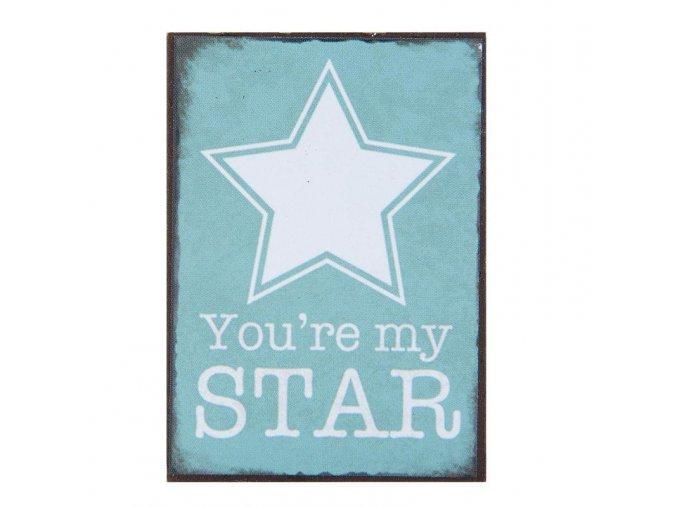 magnetka Star 5x10 cm