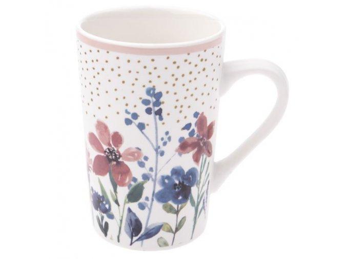 porcelanovy hrnicek 370 ml s kvitky barevny