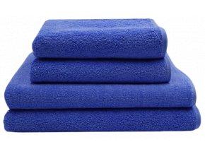 2+2 ručník a osuška, modrá barva
