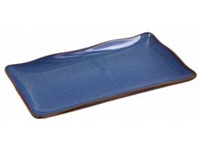 Keramický tác, modrý