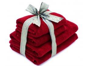 Dárkový set ručník + osuška 2+2, bordó