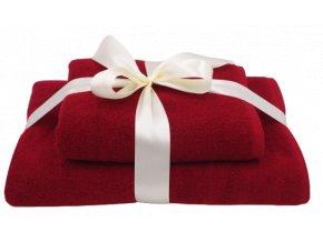 Dárkový set ručník + osuška 1+1, bordó