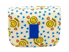 Kosmetická taška, žlutá se smajlíkem