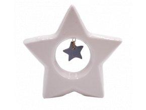 keramicka hvezda vanocni dekorace