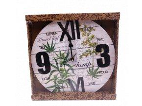 hodiny bylinky průměr 34 cm