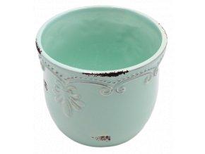 kvetinac minty green keramika