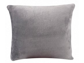 Dekorační mikro plyšový povlak na polštář 40 x 40 cm, šedý