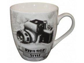 porcelanovy vintage hrnek fotoaparat