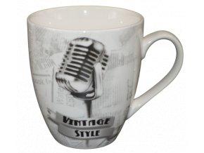 porcelanovy vintage hrnek mikrofon
