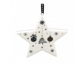 Vánoční hvězda, dřevěná dekorace